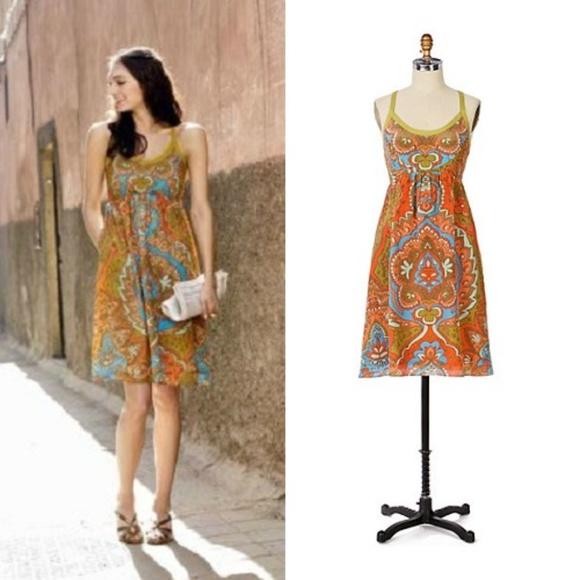 e2b71f54a66f Anthropologie Dresses | Moulinette Soeurs Silk Paisley Date Palm ...